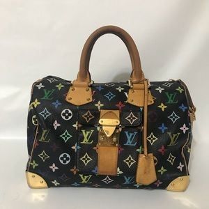 Authentic Louis Vuitton Multicolore Speedy Noir
